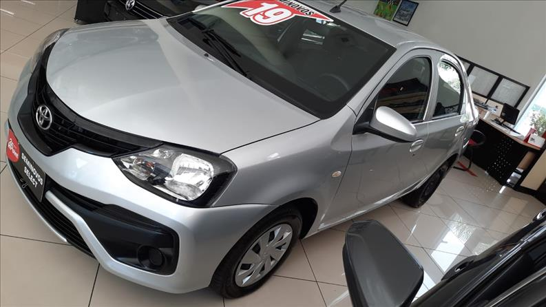 ETIOS   1.5 X Plus Sedan 16V  -      												2018/2019 | 32500 km -      												Flex | Prata